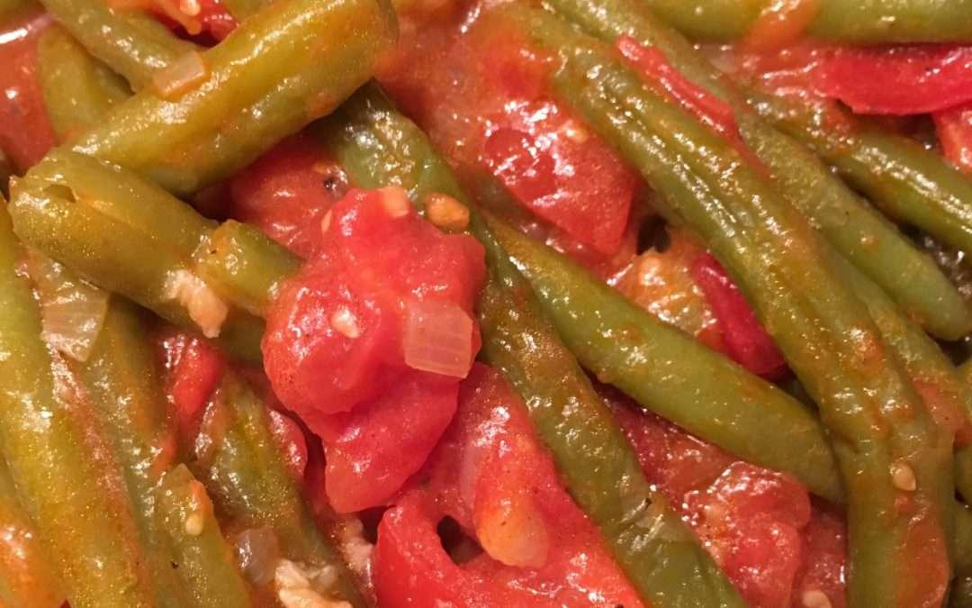 Bohnen Tomaten Gemüse